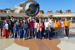 Grupo en Madrid  en el Parque Warner Puente del Pilar (octubre 2021)